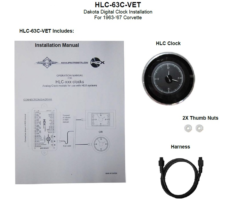 HLC-63C-VET Included Items