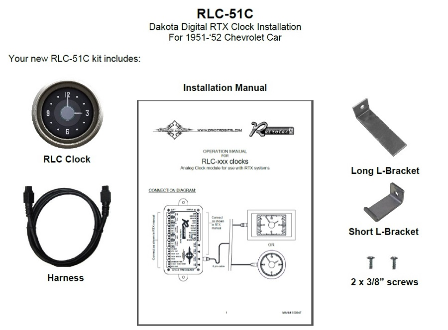RLC-51C Included Items