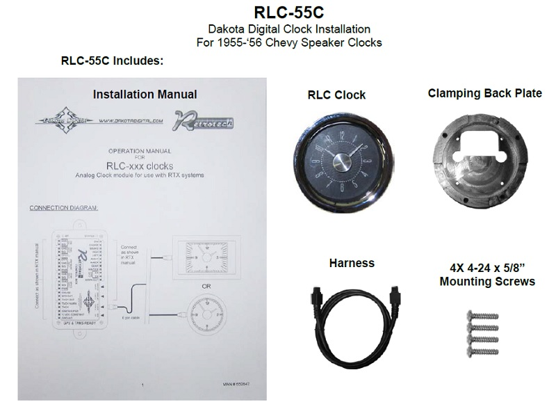RLC-55C Included Items