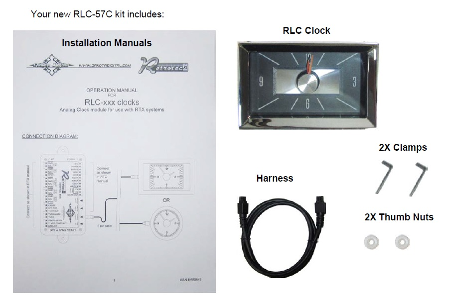 RLC-57C Included Items