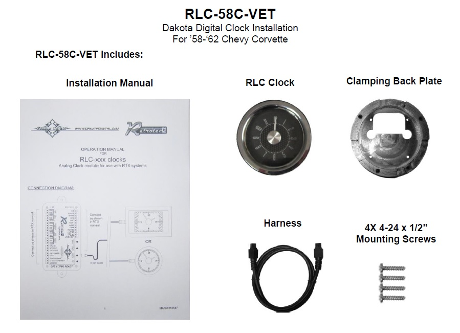 RLC-58C-VET Included Items