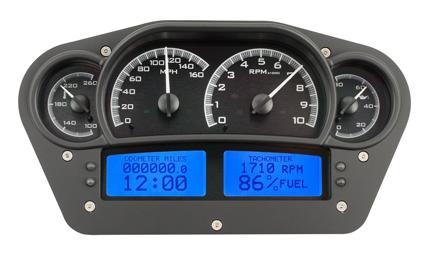 Digital Car Gauges Cluster : Dakota digital universal competition analog gauges black