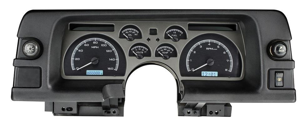 dakota digital 90 91 92 chevy camaro analog dash gauges black white vhx 90c cam ebay. Black Bedroom Furniture Sets. Home Design Ideas