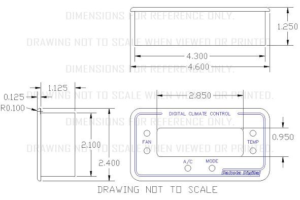 Dakota Digital Climate Control System for Vintage Air GEN-II A/C Rectangle on