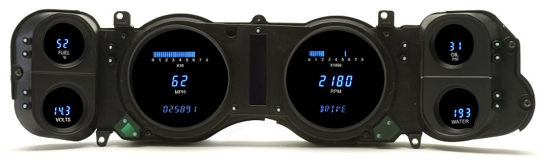 Custom Digital Gauge Cluster : Dakota digital dash  chevy camaro full gauge