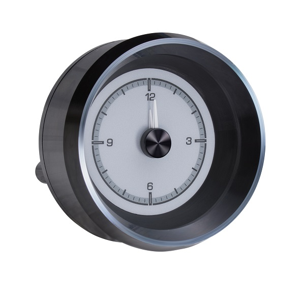 HLC-63C-VET-S Clock Gauge with SILVER ALLOY style Side View