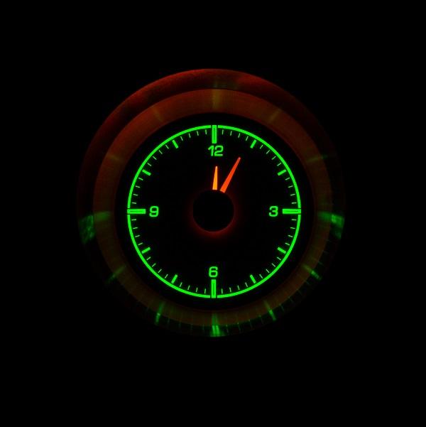 HLC-63C-VET Clock Gauge Emerald Night View