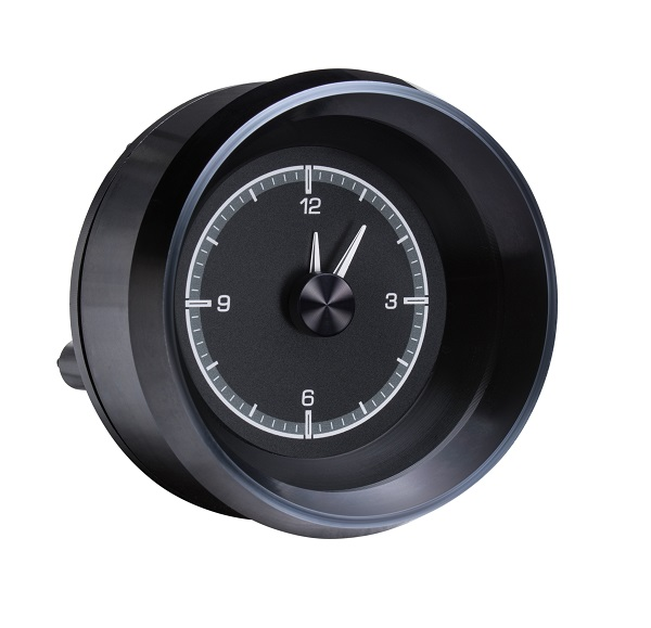HLC-63C-VET-K Clock Gauge with BLACK ALLOY style Side View