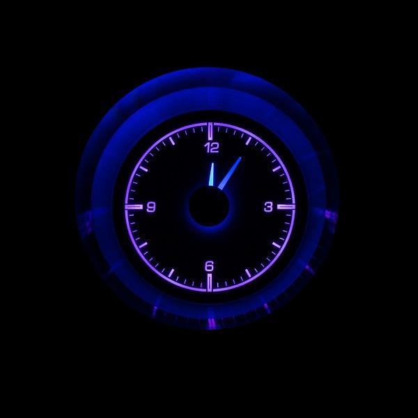 HLC-63C-VET Clock Gauge Vivid Orchid Night View