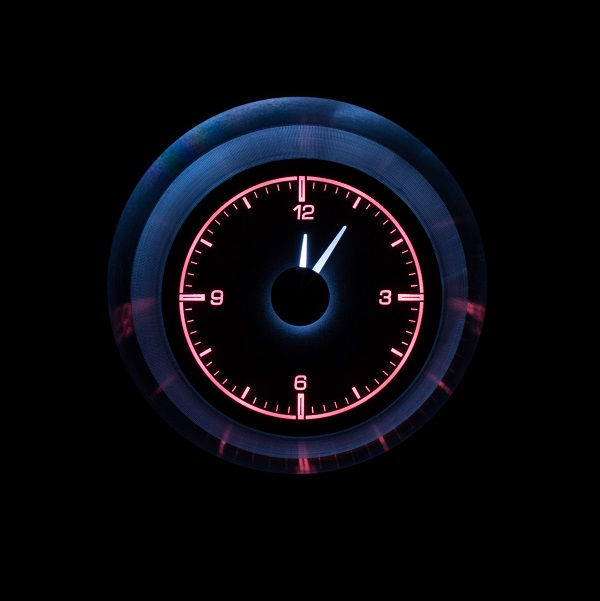 HLC-63C-VET Clock Gauge Wild Rose Night View