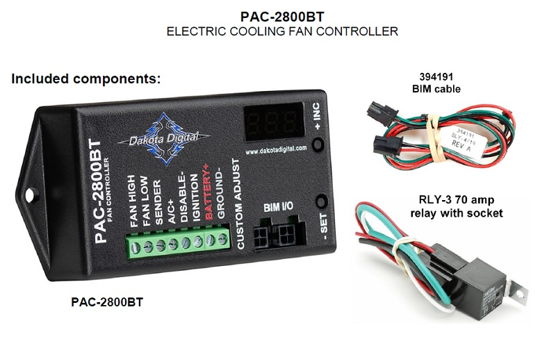 PAC-2800BT Included Items