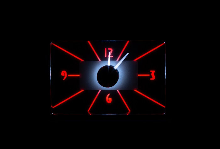 RLC-40F Clock Gauge Fire and Ice Night View