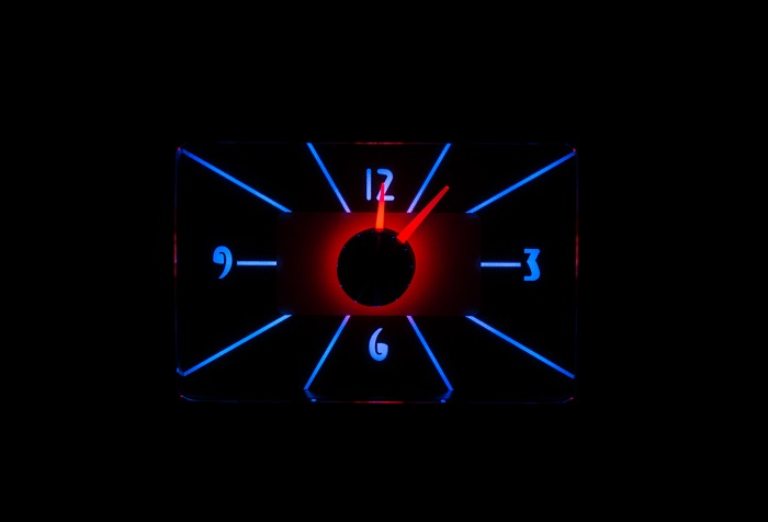 RLC-40F Clock Gauge Ice and Fire Night View
