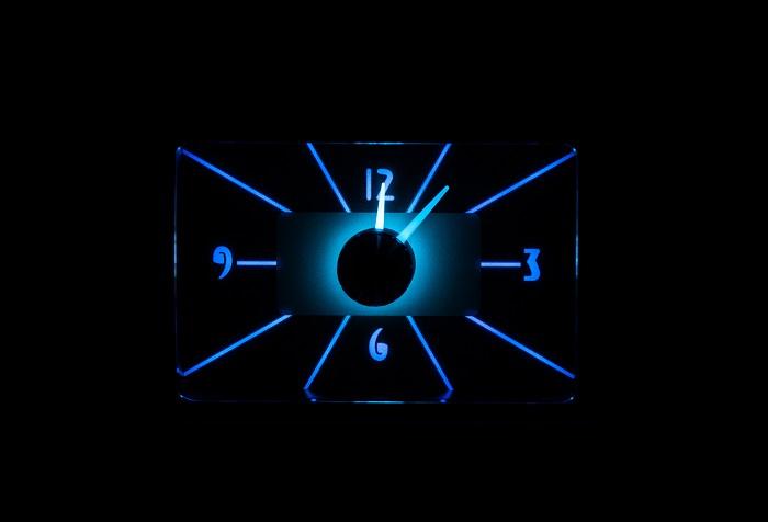 RLC-40F Clock Gauge Steel Blue Night View