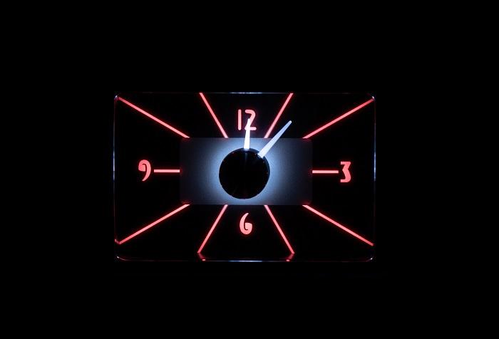 RLC-40F Clock Gauge Wild Rose Night View