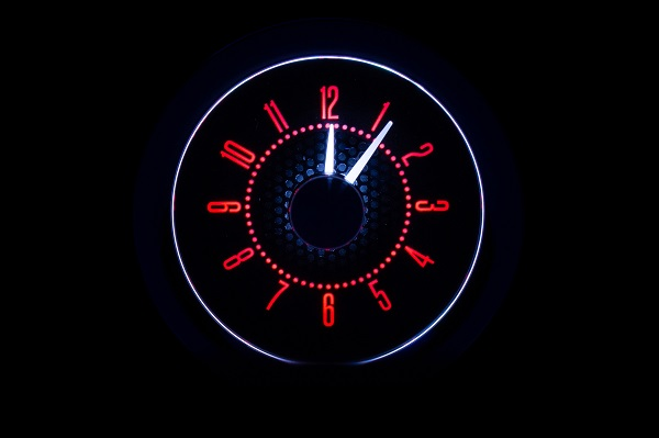 RLC-55C Clock Gauge Fire and Ice Night View