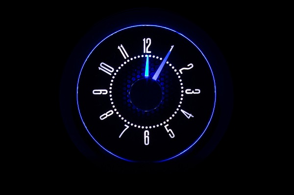 RLC-55C Clock Gauge Ice White Night View