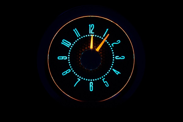 RLC-55C Clock Gauge Wild Aqua Night View