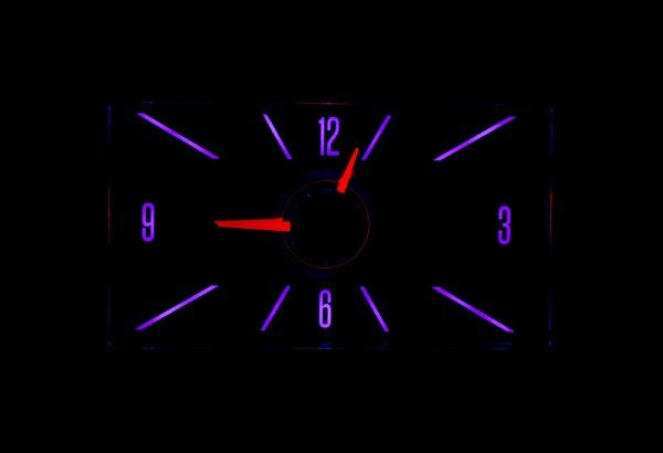 RLC-57C Clock Gauge Vivid Orchid Night View