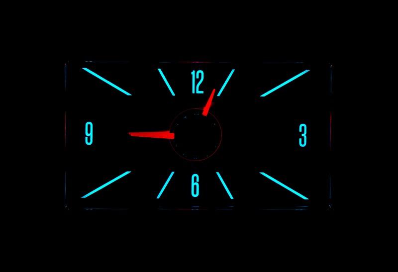 RLC-57C Clock Gauge Wild Aqua Night View