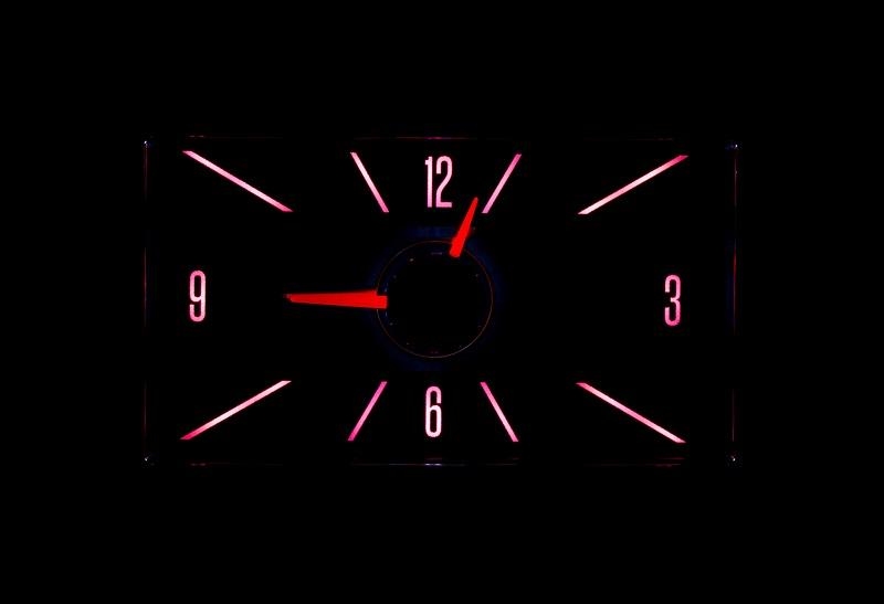 RLC-58C Clock Gauge Wild Rose Night View