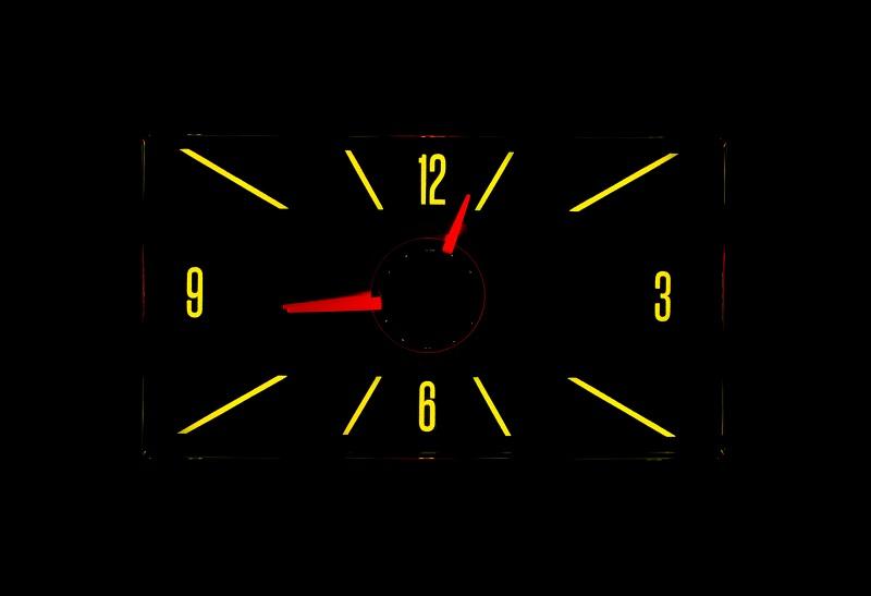 RLC-57C Clock Gauge Yellow Flare Night View
