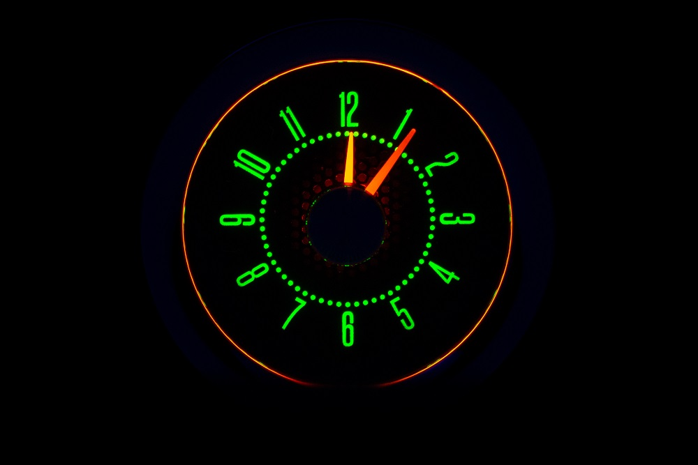 RLC-58C-VET Clock Gauge Emerald Night View