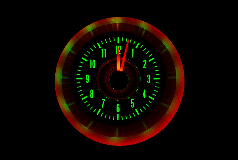 RLC-64C-VET Clock Gauge Emerald Night View