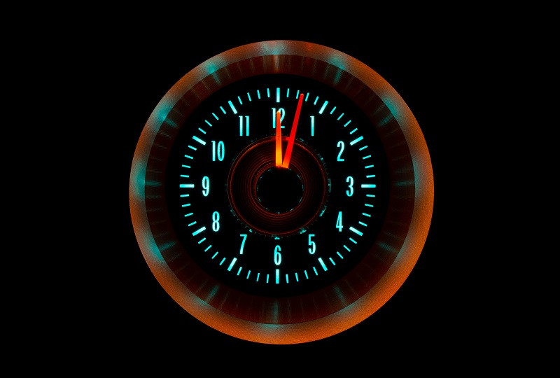 RLC-64C-VET Clock Gauge Wild Aqua Night View