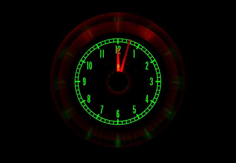 RLC-65C-VET Clock Gauge Emerald Night View