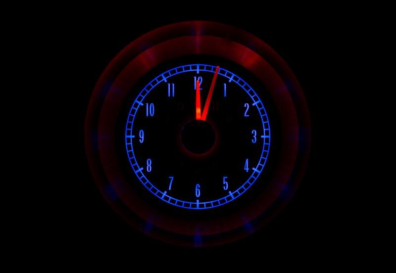 RLC-65C-VET Clock Gauge Ice and Fire Night View