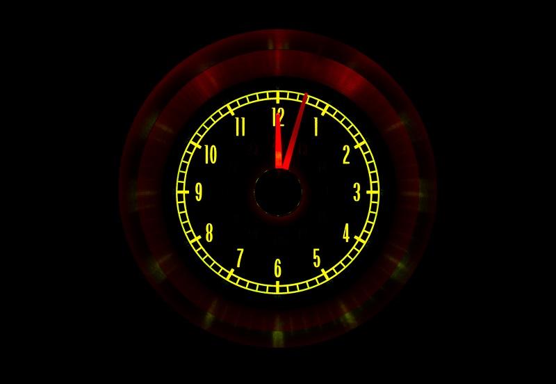 RLC-65C-VET Clock Gauge Yellow Flare Night View