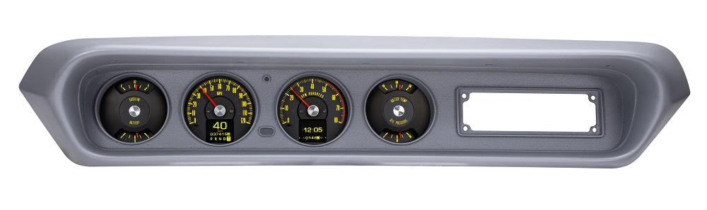 RTX-64P-GTO-X Yellow Flare Day Bezel View