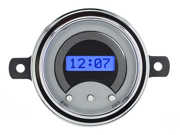 1957 Chevy Car Digital Clock Red Display VLK-57C-S-R Silver Alloy Style Face